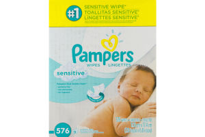 Pampers Sensitive Wipes - 576 CT