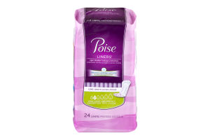 Poise Liners Very Light Absorbency Long Length - 24 CT