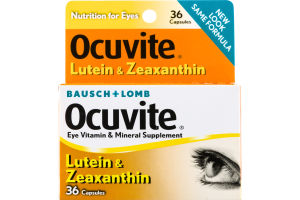 Bausch + Lomb Ocuvite Lutein & Zeaxanthin Eye Vitamin & Mineral Supplement Capsules - 36 CT