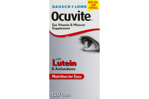 Bausch + Lomb Ocuvite Eye Vitamin & Mineral Supplement Tablets - 120 CT