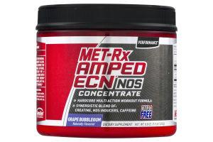 MET-Rx Amped ECN NOS Concentrate Grape Bubblegum Flavored