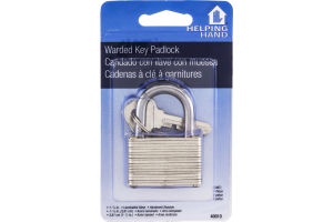 Helping Hand Warded Key Padlock