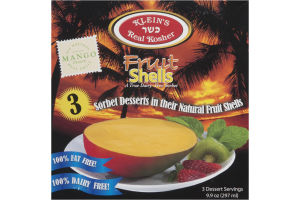 Klein's Real Kosher Fruit Shells - 3 CT