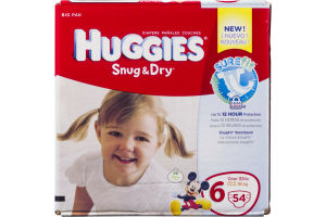 Huggies Snug & Dry Diapers Disney Jumbo Pack 6 Over 35 lb - 54 CT