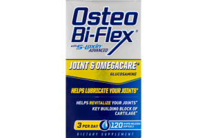 Osteo Bi-Flex with 5-Loxin Advanced Joint & Omegacare Glucosamine Rapid Release Softgels - 120 CT