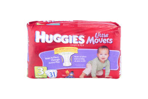 Huggies Supreme Little Movers Diapers Jumbo Pack Size 3, 16-28 lb