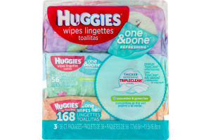 Huggies Wipes One & Done Refreshing - 3 PK
