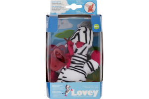 Dr Brown's Lovey Pacifier & Teether Holder Zoey The Zebra