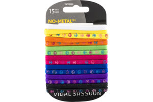 Vidal Sassoon No-Metal Peace Sign/Plain Elastics - 15 CT