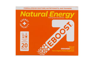 Natural Energy EBOOST Orange Packets - 20 CT