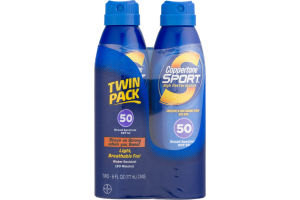 Coppertone Sport Sunscreen Continuous Spray SPF 50 - 2 PK