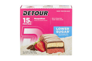 Detour 15g Whey Protein Bar - Lower Sugar Neapolitan - 9 CT