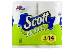 Scott Naturals Unscented Bathroom Tissue - 4 CT