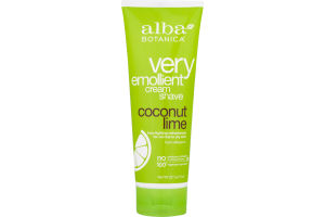 Alba Botanica Very Emollient Cream Shave Coconut Lime
