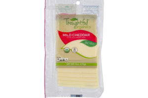 Thoughtful Organics Cheese Slices Mild Cheddar - 8 CT