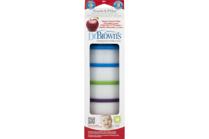 Dr Brown's Snack-A-Pillar Stackable Snack & Dipping Cups - 4 CT