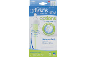 Dr. Brown's Natural Flow Options Reduces Colic Bottles - 2 CT