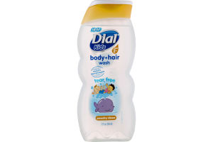 Dial Kids Ages 2+ Body + Hair Wash Tear Free Peachy Clean