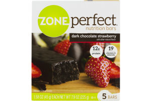 Zone Perfect Nutrition Bars Dark Chocolate Strawberry - 5 CT