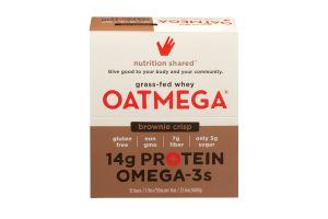 Oatmega Grass-Fed Whey Bars Brownie Crisp - 12 CT