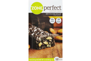 Zone Perfect Nutrition Bars Dark Chocolate Almond - 12 CT