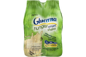 Glucerna Hunger Smart Shake Homemade Vanilla - 4 CT