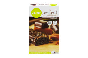 Zone Perfect Nutrition Bars Dark Chocolate Caramel Pecan - 12 CT