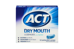 ACT Dry Mouth Lozenges Soothing Mint - 18 CT