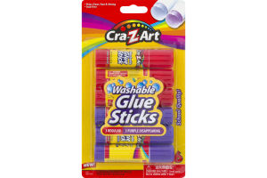 Cra-Z-Art Washable Glue Sticks - 6 CT