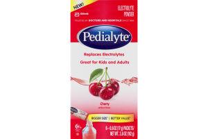 Pedialyte Electrolyte Powder Cherry - 6 CT