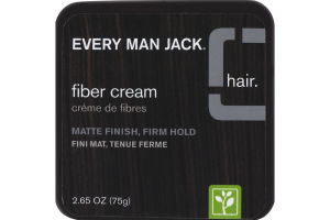 Every Man Jack Hair Fiber Cream Matte Finish, Firm Hold