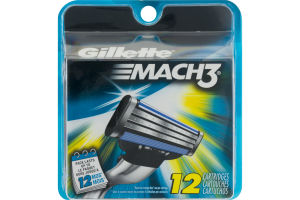 Gillette Mach3 Cartridges - 12 CT