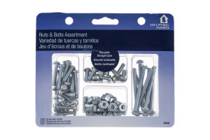 Helping Hand Nuts & Bolts Assortment - 50 CT