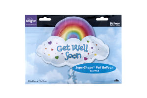 "Anagram Jumbo Foil Balloon 24"" Get Well Soon Rainbow"