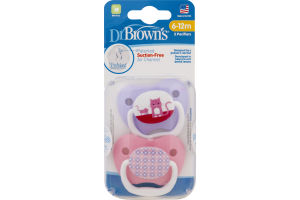 Dr Brown's Suction-Free Pacifiers - 2 CT