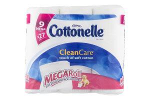 Kleenex Cottonelle CleanCare Toilet Paper Mega Rolls - 9 CT
