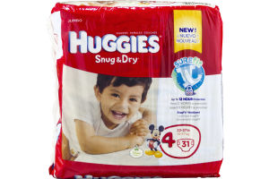 Huggies Snug & Dry Size 4 Diapers - 31 CT