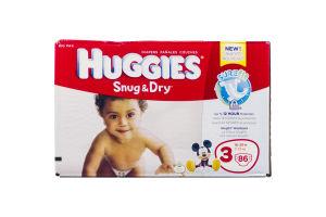 Huggies Snug & Dry Diapers Disney Big Pack 3 16-28 lb - 86 CT