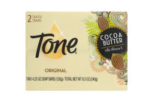 Tone Cocoa Butter with Vitamin E Bath Bars Original - 2 CT