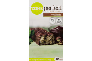 Zone Perfect Nutrition Bars Chocolate Mint - 12 CT