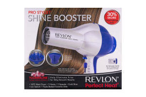 Revlon Perfect Heat Pro Stylist Shine Booster 1875 Watt Dryer