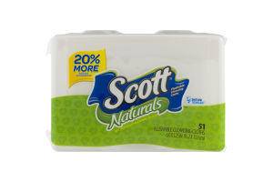 Scott Naturals Flushable Cleansing Cloths - 51 CT