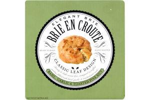 Elegant Brie En Croute Basil, Garlic & Toasted Pine Nut
