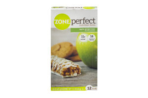 Zone Perfect Nutrition Bars Apple Gingersnap - 12 CT