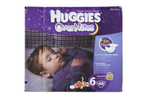 Huggies OverNites Diapers Disney 6 35 LB - 48 CT