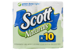 Scott Naturals Unscented Bathroom Tissue Mega Roll - 4 CT