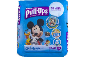 Huggies Pull-Ups Cool & Learn Training Paints 3T-4T - 22 CT
