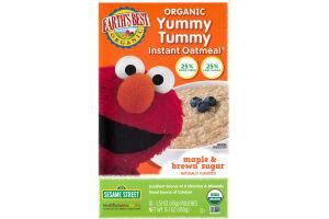 Earth's Best Organic Yummy Tummy Instant Oatmeal Maple & Brown Sugar - 10 CT