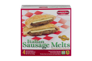 Sandwich Bros. Italian Sausage Melts - 4 CT