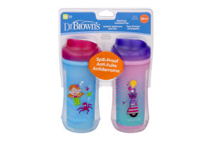 Dr Brown's Spoutless Insulated Cups - 2 CT